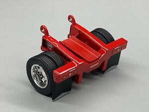 1/64 DCP RED FONTAINE MAGNITUDE LOWBOY FLIP AXLE