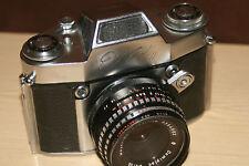 Ihagee Exa II Vintage 35mm SLR Film Camera With Meyer-Optik 50mm Lens + Case.