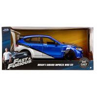 Jada Subaru Impreza WRX STi Fast and Furious Brian's 1:24 Blue 99514