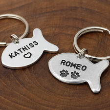 Personalized Cat Tag Cat Name Tag Cat Id Tag Engraved Cat Tag Custom Id Tag
