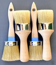 Chalk Furniture Brush Kit/w/Boar Bristles 2 Med Pro Paint & 2 Large Wax Brushes