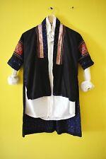 Vintage Hmoung tribal southeast Asian boho japan jacket patchwork boro kimono xs