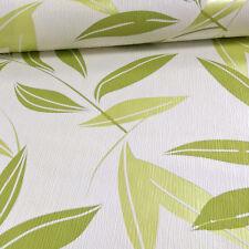 Grandeco Casa Doria Hoja Metálico Motivo Papel Pintado Texturizado Blanco Verde
