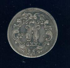 Italian States AGA GXX 20 Grana Tari Naples 1692 Silver World Coin Italy       e