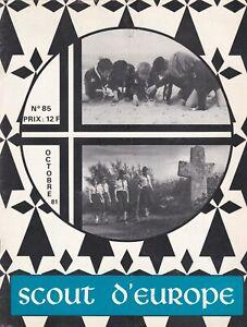 revue scout d'europe  octobre 1981, n°85