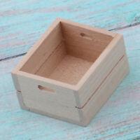 1/12 Dollhouse Wooden Fruit Vegetable Storage Box Cube Kitchen Accessory