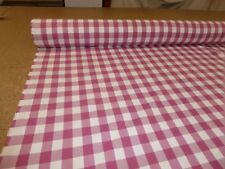 Laura Ashley - RASPBERRY - Gingham Checked Cotton Fabric - Curtains & Upholstery