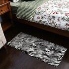Zebra Animal Print Hide Rug Carpet Living room Area Rug Floor Mats 3 size Choose