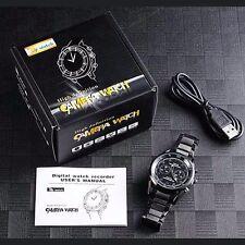 1080P 8GB Black Spy Hidden Camera Night Vision mini camera DVR waterproof Watch