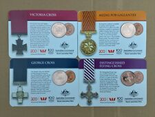 2017 Legends of ANZAC 25c Victoria Cross George Cross set 4 coins