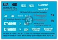 Peddinghaus 1/72 KV-1 Russian Heavy Tank WWII Markings (6 tanks) [Decal] 2750