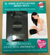 New Dermasuri Deep Exfoliating Body Mitt Visibly Removes Dead Skin 2 Pack