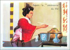 IMAGE CARD chanoyu Cérémonie du Thé Japon Japan Way Tea Ceremony Asie Asia 60s