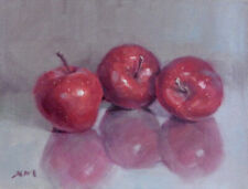 """Apples 2"" original fine art still life oil painting by Xiaomei Griffiths"