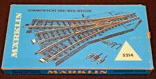 Märklin 5214 H0 Drei Weg Weiche Gleismaterial Gleise Modeleisenbahn *1975