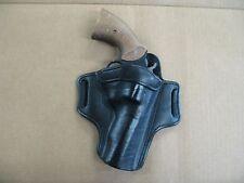 "Rossi 971 972  4"" Revolver 6 Shot Leather 2 Slot Pancake Belt Holster BLACK RH"