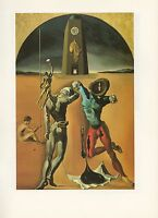 "1976 Vintage SALVADOR DALI ""THE POETRY OF AMERICA"" COLOR Art Print Lithograph"