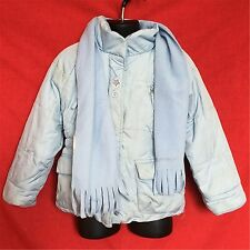 ZeroXposur toddler girl's blue winter outerwear puffy jacket with scarf size--2T