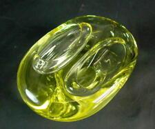 Murano Glasschale zweiteilig - gelb