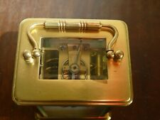 Solid brass French carriage clock. . Recent full service.