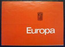 Nsu / Fiat Europa coche folleto de ventas (alemán) 1964.