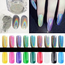 Colorful Chrome Metallic Mirror Dust Effect Glitter Magic Shiny Nail Art Hot