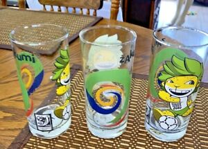 2010 South Africa FIFA WORLD CUP Soccer ZAKUMI character glass-2007 release 3 PC