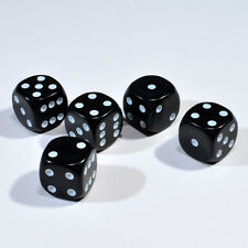 50 Stück 12mm Schwarze Knobel Würfel / Augen Würfel Spielwürfel von Frobis