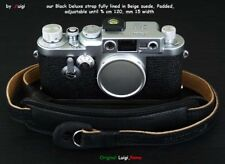 LUIGI FULLY LINED IN SOFT SUEDE DELUXE STRAP,fit LEICA,NIKON,FUJI,ZEISS,MORE,UPS