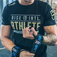 Men Gym Crossfit T-Shirt Short Sleeve Bodybuilding Workout Training Tee Tops H03