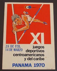 Central American and Caribbean Games 1970 Panama Original Vintage Poster
