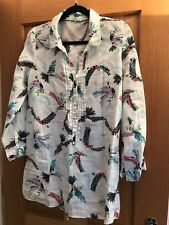 White Stuff Women's Linen Long Sleeve Shirt/Tunic (UK12/VGC)