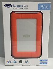 Lacie Rugged Mini 500GB USB 3.0 # 301555 Shock Resistant, Portable -  OPEN BOX