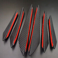 Kohlefaser Style 6pcs ABS Auto Stoßstange Formteile Kit Spoiler Canards Wings