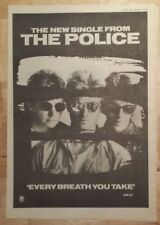 The Police every breath you  1983 press advert Full page 39 x 28 cm mini poster