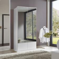 Kleiderschrank Imago Schrank Schlafzimmerschrank in weiß mit Spiegel 90 cm
