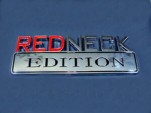 "Pontiac Chrome Fender Decal Badge ""REDNECK EDITION"" Exterior Emblem Logo"