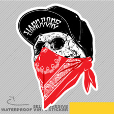 Skull With Red Bandanna Scurf Vinyl Sticker Decal Window Car Van Bike 2535
