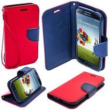 * Book Case Hülle Handy Cover Etui Tasche Leder-Imitat Samsung Galaxy S4 ROT
