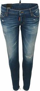 Women's Dsquared Jeans Medium Waist Skinny Blue Washe IT 46 D 40 NEU* 75822-006