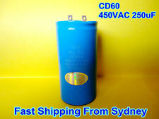 CD60 450VAC 250uF 50Hz Air Conditioner Appliance Motor Capacitor **NEW**