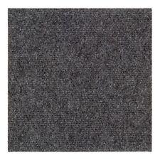 Teppichfliesen selbstklebend Nadelfilz Bodenbelag Gerippt Salsa Grau (7,16€/1qm)