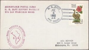 B.I.OT.1982. Cover Navy Cachet,  FPO 96685,