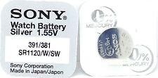 Sony 381/391 (SR1120W/SW) 1.55v Silver Oxide Mercury Free Watch Battery - Japan