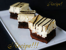 "☆Right from the Boardwalk of Disney!☆Brownie Cheesecake ""RECIPE""!☆"