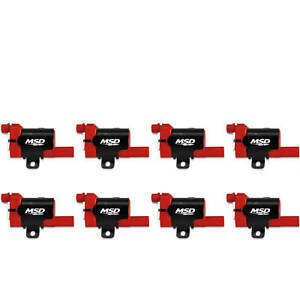 MSD Ignition Coil Blaster LS Series 1999-2007 GM  Truck engines Red 8-Pack 82638