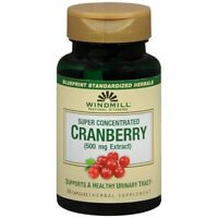 Windmill Natural Vitamins Cranberry 500mg Herbal Supplement Capsules - 30 CP