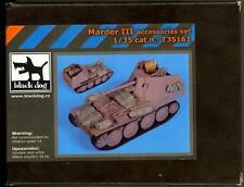Blackdog Models 1/35 MARDER III TANK DESTROYER ACCESSORIES SET Resin Set