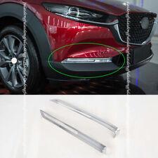 For Mazda CX-30 2020-2021 ABS Chrome Head Front Fog Light Lamp Cover Trim Bezel