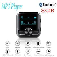 HIFI Bluetooth Sports Clip MP3 Player Music Media Voice Recorder 8GB FM Radio